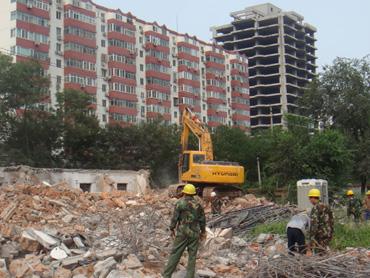 综合体育馆及留学生综合楼建设地块建筑物拆除工程