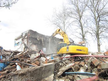 科技研發中心建設工程之舊樓拆除工程